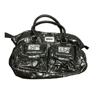 Guess Black Front Pockets Zip Inside Pockets Tote